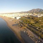 Vista aérea de Estepona y sus playas