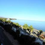Vista desde el hotel de la playa en dirección Málaga